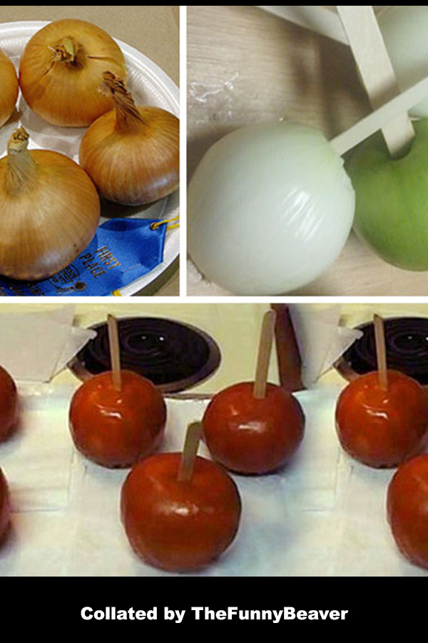 Funny April Fools Ideas - candied apples