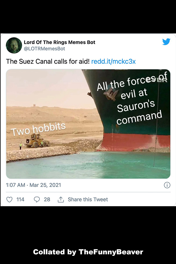 Funny Suez Canal Memes - Middle East middle earth