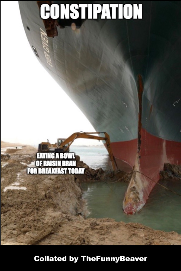 Funny Suez Canal Memes - me this morning