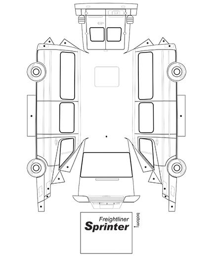 paper toys - mercedes sprinter