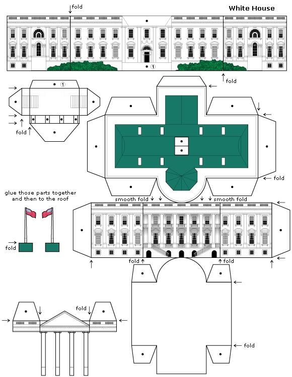 paper toys - white house