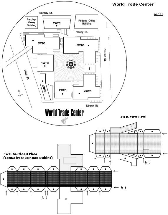 paper toys - world trade center